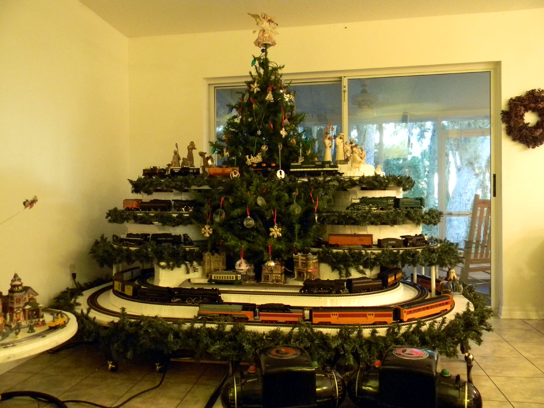 Trains Under Christmas Tree